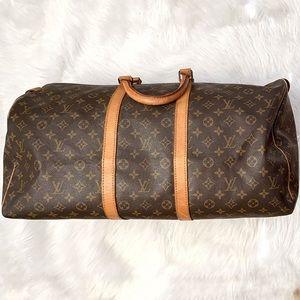 Louis Vuitton Keepall 55 monogram travel duffel